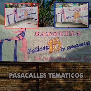 Pasacalles temáticos y carteles personalizados para 15 años saludos felicitacioens. Pasacalles tematicos. PAsacalles personalizados. Elegi el tema, nosotros te hacemos el diseño